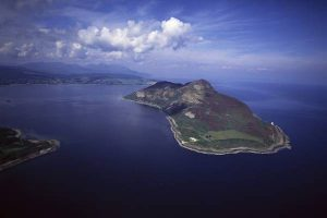 Holy Isle Arial View